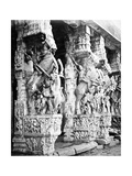 Carved Horse Pillars in Ranganatha Temple  Srirangam  1869