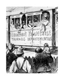 The Cast of the Comédie Française on Tour in France in a Special Train  Makes a Halt to Give…