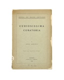 Title Page of 'Curiosissima Curatoria' by 'Rude Donatus'  Oxford  1892