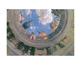 Trompe L'Oeil Oculus in the Centre of the Vaulted Ceiling of the Camera Degli Sposi or the Camera…