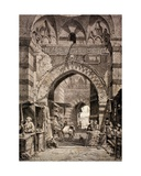 Entrance to the Khan El-Khalili Souk in Cairo  in the 19th Century  from 'El Mundo Ilustrado' …