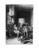 King Francis I of France in the Workshop of Robert Estienne  Print Made by C Laplante …