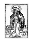 Saint Anthony the Great  Frontispiece from 'In Symbolicam SAntonii Magni Imaginem Commentatio'…