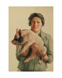 Kolkhoz Woman with Piglet  C1960s