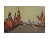 Red Square with St Basil's Cathedral  1950s