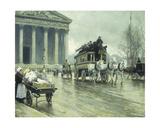 Le Boulevard a La Madeleine  Paris