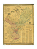 Scott's Map of the Consolidated City of Philadelphia  1856