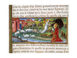 Annunciation of the Angel to Joachim Codex of Predis (1476) Italy