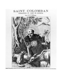 Saint Colombanus  Print Made by Bauchart