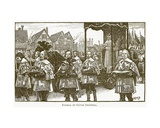Funeral of Oliver Cromwell  Illustration from 'The New Popular Educator'  C1891