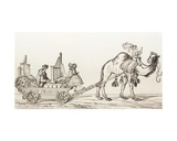 The Organist Paul Hofhaimer Playing in a Carriage Drawn by a Camel  from 'El Mundo Ilustrado' …