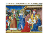 Jesus Is Shown to the Three Kings Codex of Predis (1476) Italy
