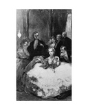 Daniel Dunglas Home Conjuring a Hand to Knot Empress Eugenie's Handkerchief  Illustration from…