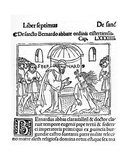 St Bernard of Clairvaux Exorcising a Possessed Woman  Illustration from 'La Vie Des Saints'…