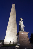 The Needle on Bunker Hill Monument at Dusk  Boston  Usa