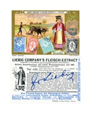 Bulgarian Postage Stamps  Front and Verso of a Liebig Promotional Card  1897