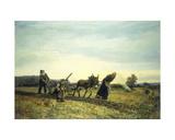 Plowing the Fields  1877