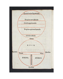 Map and Diagram of the World  Folio A4V of 'Orbis Breviarium' by Zaccaria Lilio (DC1522) …