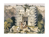 Gateway of the Great Teocallis  from 'Views of Ancient Monuments in Central America  Chiapas and…