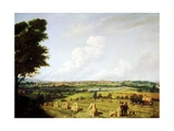 View of Preston from Penwortham Mill  1821