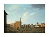View of the Piazza Della Signoria  Florence