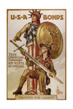 World War I (1914-1918) Poster 'Usa Bonds Third Liberty Loan Campaign' Boy Scouts of America…