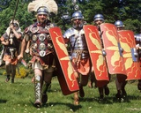 Historical Re-Enactment of Roman Soldiers