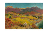 Crimean Landscape with Vineyard  1960s