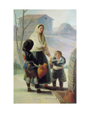 A Woman and Two Children by a Fountain  1786-7