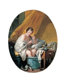 Young Woman Taking a Footbath  1766