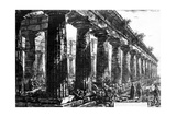 The Temple of Neptune at Paestum  Etched by Francesco Piranesi  1778