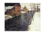 A Winter River Landscape  1895