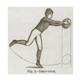Drop-Kick  Illustration for 'Cassell's Book of Sports and Pastimes'  C1890