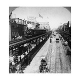 Irt Third Avenue Line Along the Bowery  New York  C1897