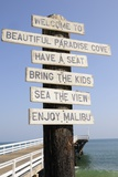 Welcome Sign at Paradise Cove in Malibu