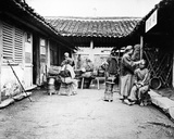 Itinerant Barbers at a Country House  China  C1875