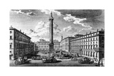 View of Piazza Colonna  Rome  1752