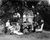 Tea in the Garden  C1890