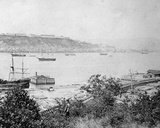 View of Quebec City across the Harbour  C1880-95