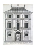 Garden Casino Belonging to Giacomo De Rossi on the Gianicolo Alla Longara  from 'Palazzi Di…