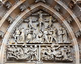 Tympanum Reliefs Above the Central Portal in the Western Facade  Carved C1949  St Vitus…