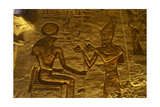 Egyptian Art Great Temple of Ramses II Relief Depicting the Pharaoh Ramses II Making an…