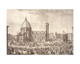 View of the City of Florence with the Baptistery of St John and the Procession of Corpus Domini