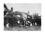 Croquet on the Lawn at Elm Lodge  Streatley  C1870s