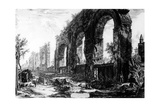 View of the Aqueduct of Nero  from the 'Views of Rome' Series  C1760