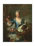 Portrait of Hyacinthe-Sophie De Beschanel-Nointel  Marquise De Louville