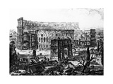 View of the Arch of Constantine and the Colosseum  from the 'Views of Rome' Series  C1760