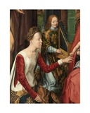 St Catherine  Detail of the Central Panel of the Triptych of Saint John the Baptist and Saint…