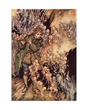 He Played Until the Room Was Entirely Filled with Gnomes' Illustration by Arthur Rackham from…