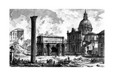 View of the Arch of Septimius Severus and the Church of Santi Luca E Martina  from the 'Views of…